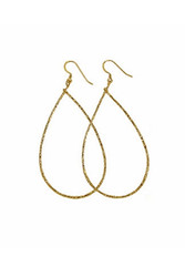 CHARLENE K   14K Vermeil Teardrop Hoop Earrings