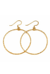 CHARLENE K    14K Gold Vermeil Hoop Earrings