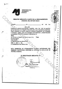 Example of an excerpt from a set of Venezuela copy corporate documents.