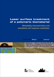 Laser surface treatment of a polymeric biomaterial