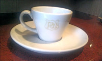 Pumphreys Italiano Cup and Saucer
