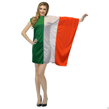 The Dragons Den Ladies Irish Flag Fancy Dress  St Patricks Day Costume