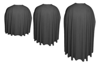 Black Custom Made Super Hero Cape Fancy Dress Accessory
