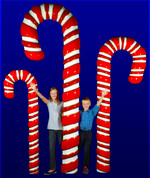 Giant Candy Cane w/Base
