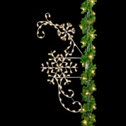 8' Silhouette Classic Winter Snowflakes