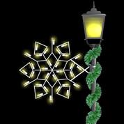 2' Winterfest Diamond Snowflake