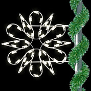 3' Fantasy Spiral Snowflake