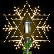 7' Star Snowflake - Post Over