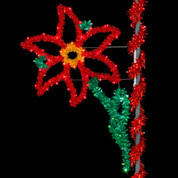 8' Holiday Poinsettia