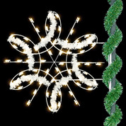 4.5' Deluxe Spiral Snowflake