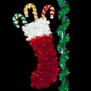 7' Traditional Christmas Stocking
