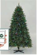"6' 6"" Versaline Pre-Lit, App-Enabled, 3-Channel, Color-Flip Tree"
