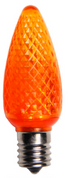 BOX QTY: 25 BULBS CASE QTY: 1000 BULBS Retro Fit Orange: Scare off all the ghosts and goblins this Halloween with these vibrant orange LED'S. The classic style and high quality of these bulbs require low to zero maintenance. The low energy using LED's generate a vibrant glow that lasts seven times longer than other bulbs. Put these bulbs with green and white bulbs and you will feel the luck of the Irish running through your home or business.   •	Each bulb has three professional grade LED's inside to create a bright glow.  •	The low watt LED bulbs allow for you to make longer runs while using low amounts of energy.  •	The bulbs remain cool to the touch because of the low energy LED bulbs inside.  •	These durable smooth textured bulbs have a 60,000 hour lifespan •	We use nickel platted bases instead of brass to prevent corrosion. •	Now you can get an LED C9 lamp without the faceted caps.  •	Indoor and Outdoor use *Per bulb price varies per bulb color*
