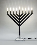 18 inch LED Chrome Display Menorah