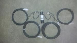 80-40 meter fan dipole with 1:1 balun