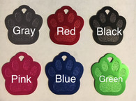 Paw Print ID Tag (Solid Colors)