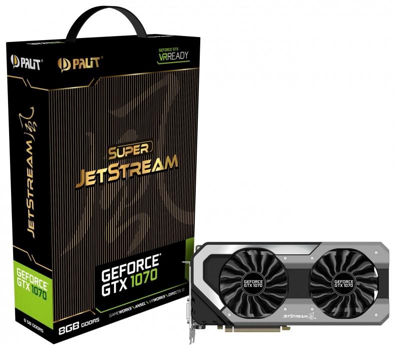 PALIT NVIDIA GTX 1070 Super JetStream 8GB GDDR5, Dual Fan Graphic Card