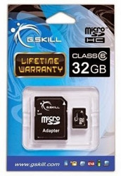 G.Skill MicroSDHC 32GB Class 6 with Adapter