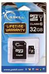 G.Skill MicroSDHC 32GB Class 10/UHS-1 with Adapter