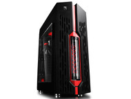 DEEPCOOL GENOME MID Tower Case W/ 360MM Liquid Cooling BLACK-RED ROG Certified
