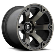 Fuel Off-Road Beast Wheel - Black & Milled w/ Dark Tint