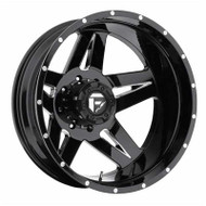 Fuel Off-Road Full Blown Rear Dually Wheel - Black & Chrome