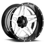 Fuel Off-Road Full Blown Wheel - 2-Pc. White & Milled