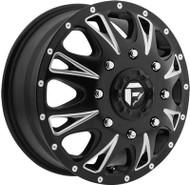 Fuel Off-Road Throttle Front Dually Wheel - Black & Chrome