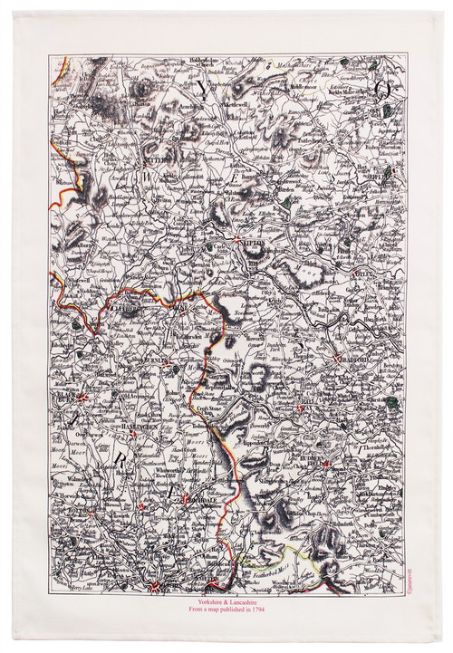 YORKSHIRE & LANCASHIRE TEA TOWEL