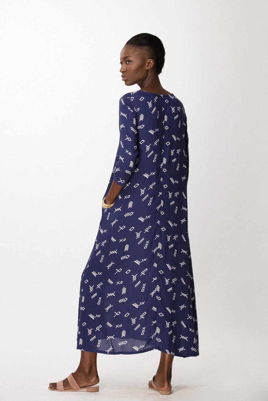 Nima Dress, Cobalt Jot