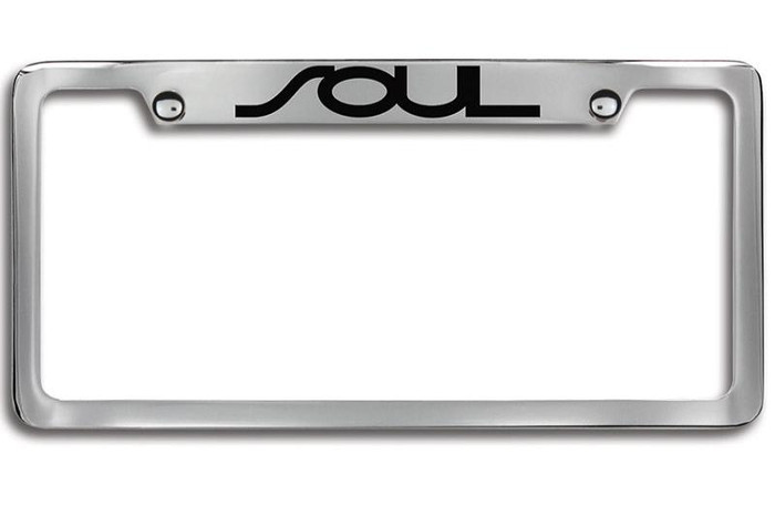 Kia Soul Black Upper Logo License Plate Frame (G118)