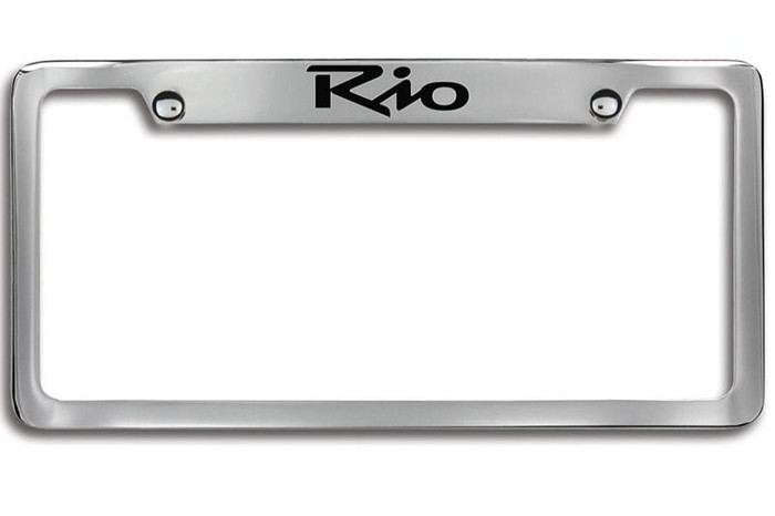 Kia Rio Upper Logo License Plate Frame (E072)