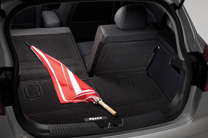 Kia Rio 5-Door Cargo Mat with Seat Back Protector (E081)