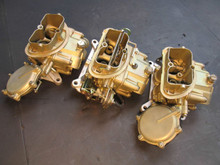 1968 CORVETTE AUTOMATIC HOLLEY SET4 OF CARBURETORS TRI-POWER DATED RESTORED CARB