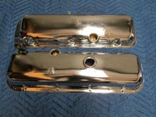 68-69 Corvette BIG BLOCK VALVE COVERS 427 435 400 454 FLASH CHROME