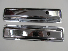 68 Corvette SMALL BLOCK VALVE COVERS CHROME PAIR 327 350 valves cover