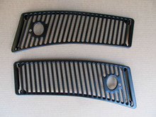 63-67 Corvette NEW PAIR  COWL WINDSHIELD WIPER  VENT GRILLS new pair exact NEW