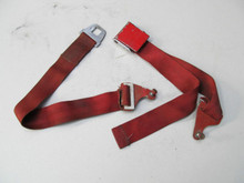 61-62 Corvette USED ORIGINAL BUCKLE IRVING AIR CHUTE  4-PANEL RED SEAT BELT