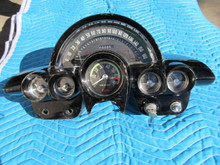 1958-60 Corvette   GAUGE CLUSTER TACHOMETER. SPEEDOMETER. oil fuel temperature