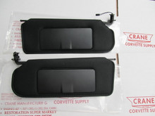 1997-04 CHEVROLET CORVETTE NEW BLACK SUN VISOR PAIR