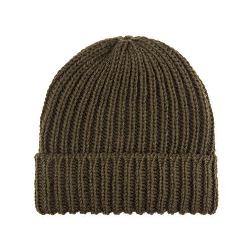 Wool Beanie — Olive