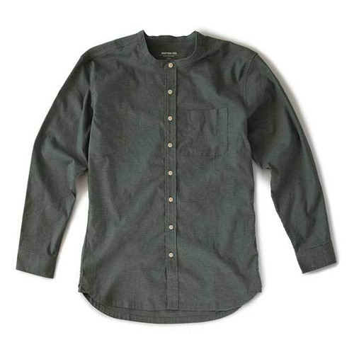 Hemp Button Down — Sage