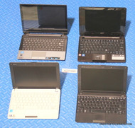 174X NETBOOK LAPTOPS (MIXED BRANDS) -MISSING PARTS / FUNCTION ISSUES