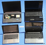 "98x MIXED BRAND LAPTOPS -NEW CPU STYLE - GRADE ""C"" MISSING PARTS OR SCREEN ISSUES"