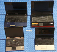 "44x MIXED BRAND LAPTOPS -CORE 2 STYLE - GRADE ""C"" MISSING PARTS OR SCREEN ISSUES"