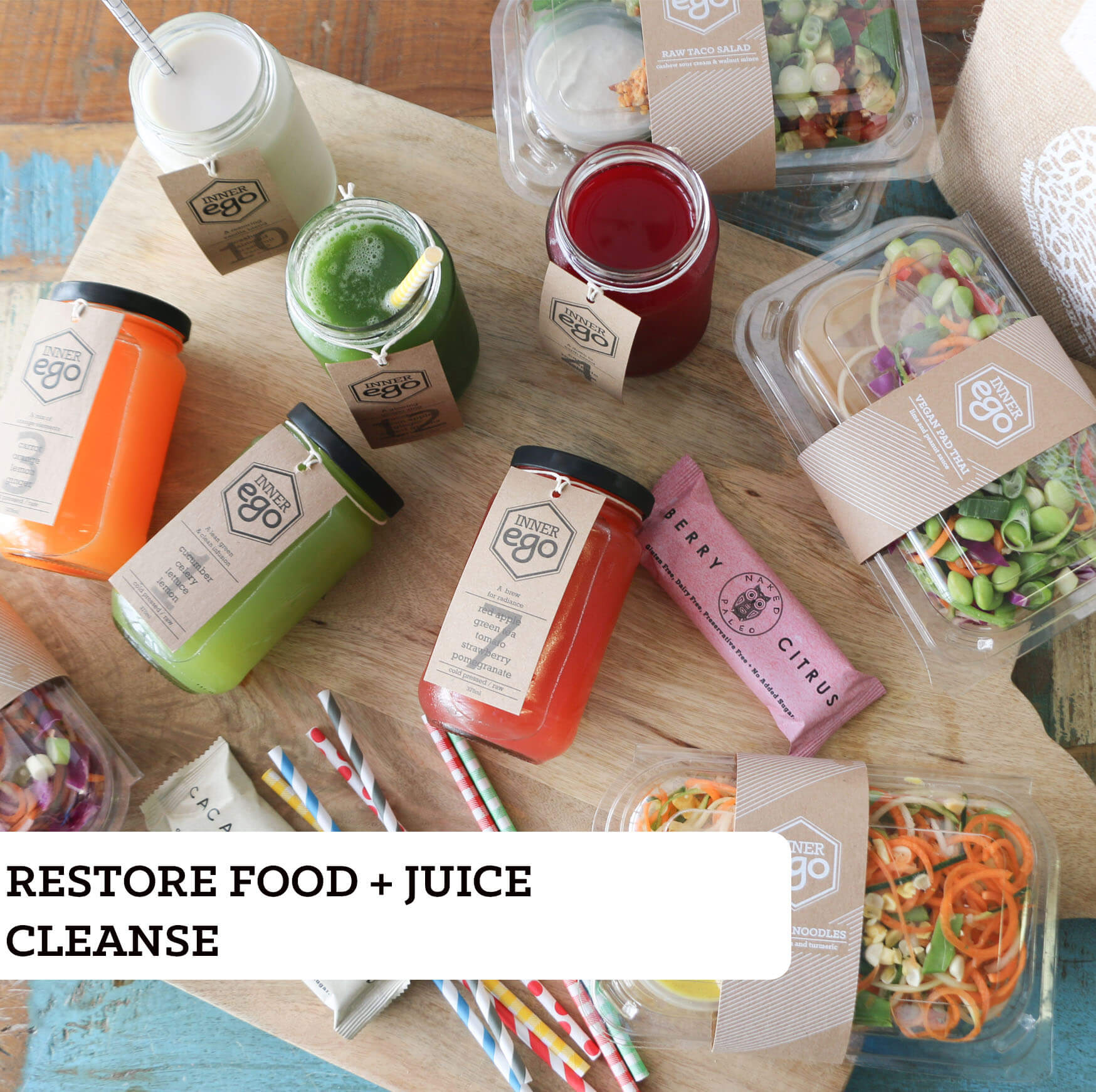 Return food + juice cleanse