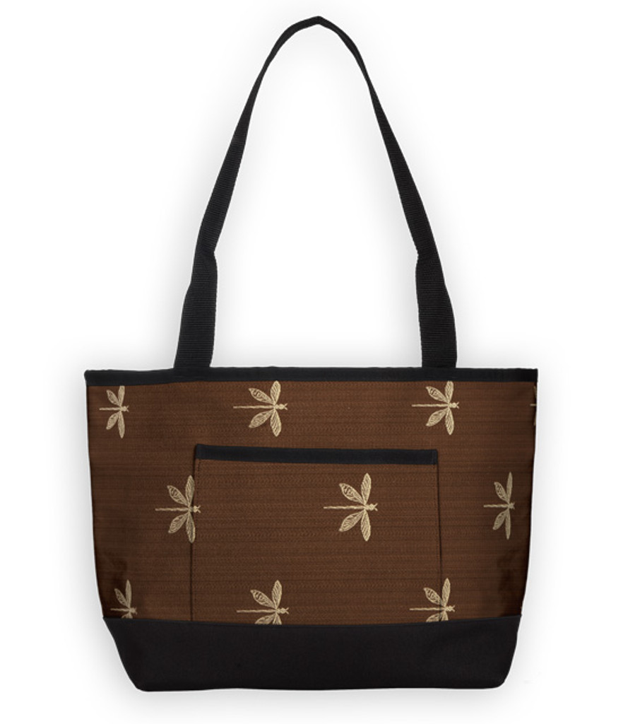 The Baby Tote Bag in Dragonfly Chocolate.