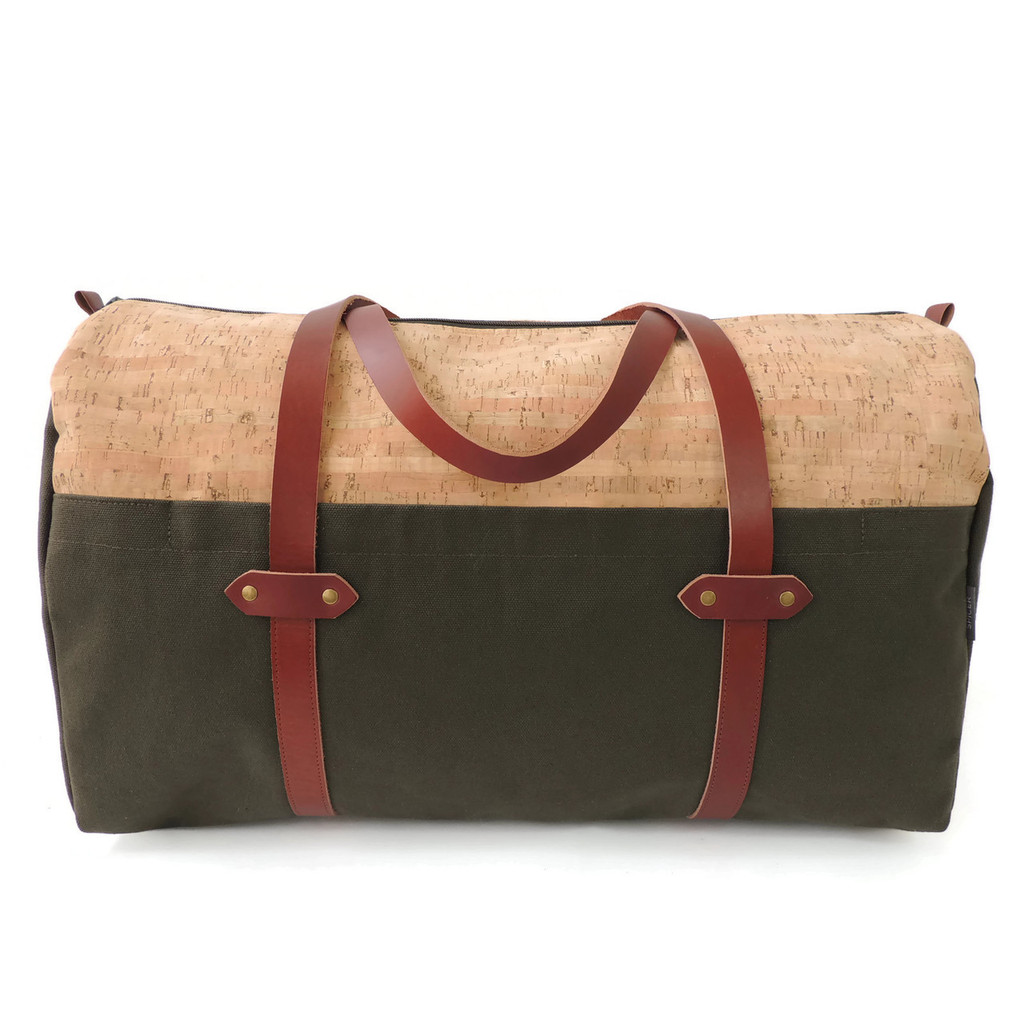 Duffle in Cork Dash with Olive Canvas