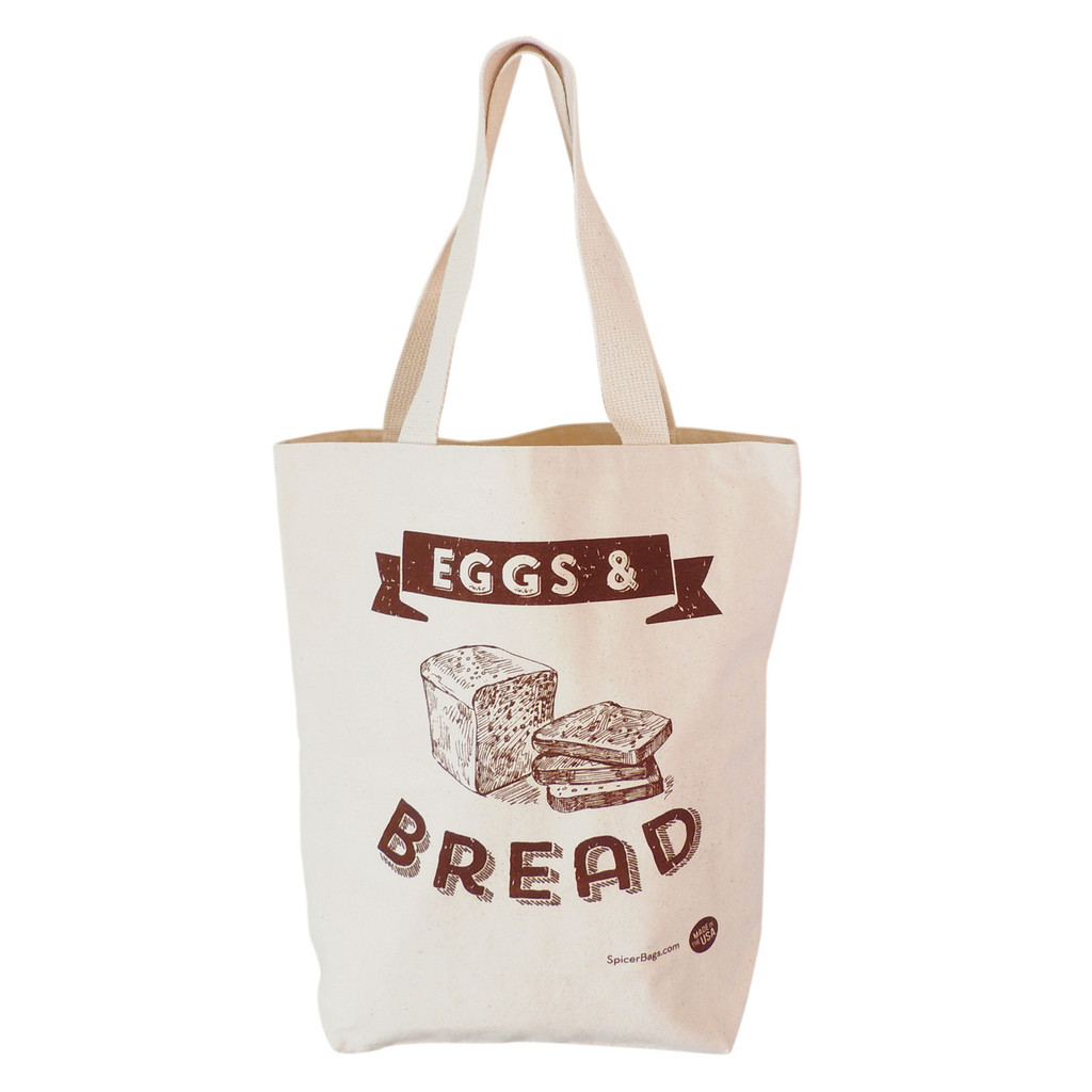 Eggs and Bread Grocery Tote