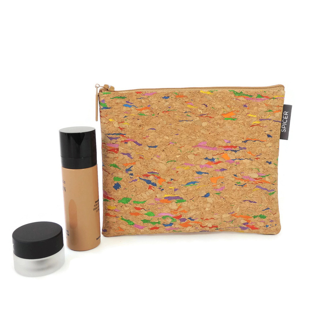 Pouch in Cork Dots